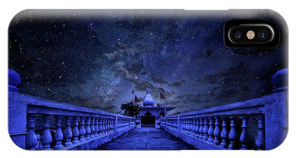 Night Sky Over The Temple IPhone Case