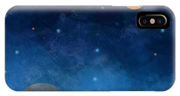 Space iPhone Case - Night Sky,cloud, Moon And Star - Paper by Pluie r