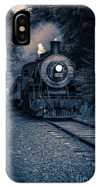 Passenger Train iPhone Case - Night Train Essex Valley Railroad by Edward Fielding