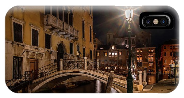 iPhone Case - Night Walk In Venice by Jaroslaw Blaminsky