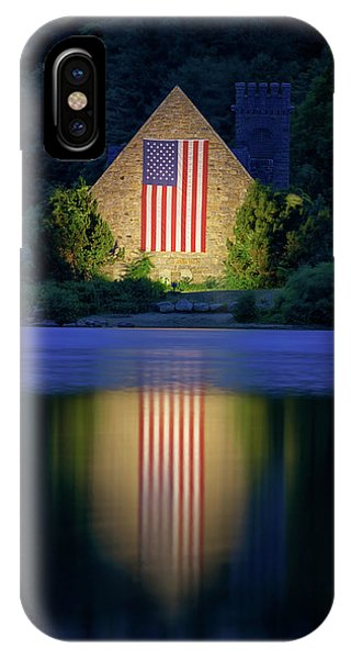 Nightfall At The Old Stone Church IPhone Case