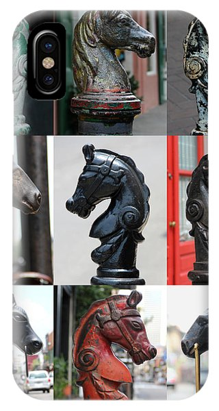 Nine Horse Head Hitching Posts IPhone Case