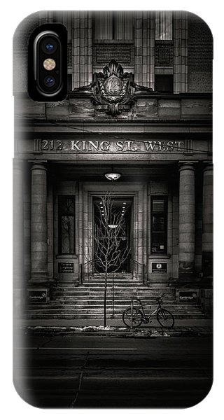 IPhone Case featuring the photograph No 212 King Street West Toronto Canada by Brian Carson