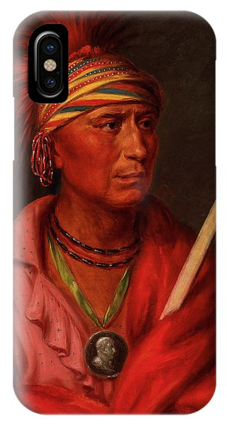 King Charles iPhone Case - No Heart, Nan-che-ning-ga, 1837 by Charles Bird King