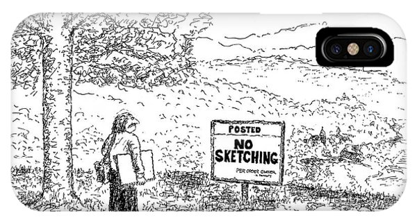 No Sketching IPhone Case