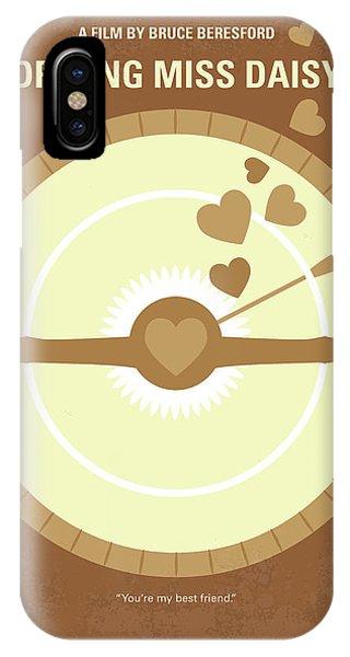 Daisy iPhone X Case - No1004 My Driving Miss Daisy Minimal Movie Poster by Chungkong Art