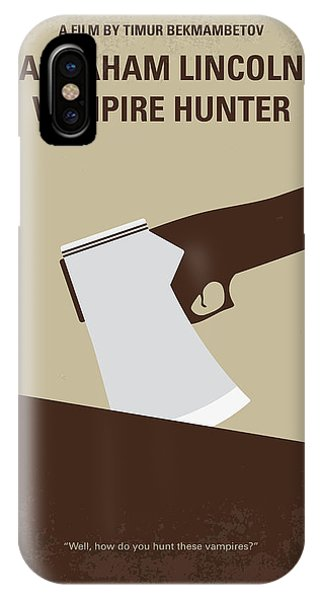 Weapons iPhone Case - No1009 My Abraham Lincoln Vampire Hunter Minimal Movie Poster by Chungkong Art