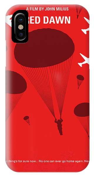 Dawn iPhone Case - No1018 My Red Dawn Minimal Movie Poster by Chungkong Art
