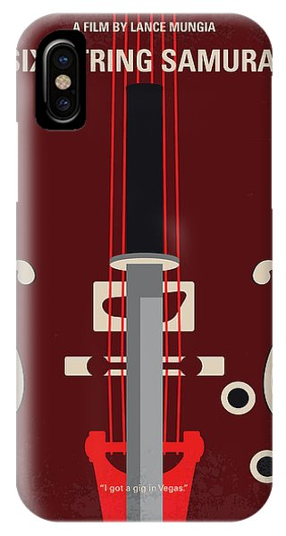 Horseman iPhone Case - No1020 My Six-string Samurai Minimal Movie Poster by Chungkong Art