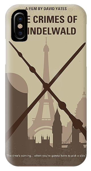 Hogwarts iPhone Case - No1042 My The Crimes Of Grindelwald Minimal Movie Poster by Chungkong Art