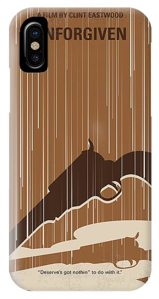 Town iPhone Case - No1050 My Unforgiven Minimal Movie Poster by Chungkong Art