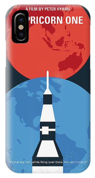 Astronaut iPhone Case - No1078 My Capricorn One Minimal Movie Poster by Chungkong Art