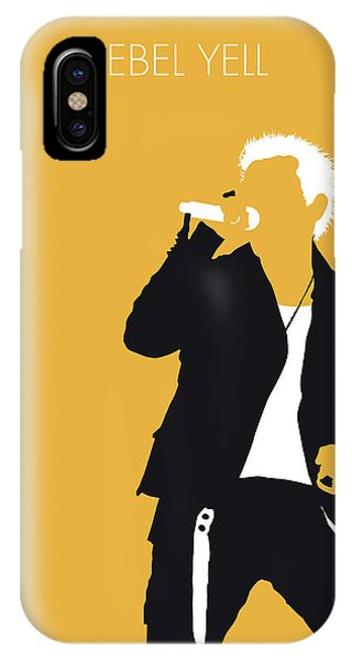 Billy Idol iPhone X Case - No284 My Billy Idol Minimal Music Poster by Chungkong Art