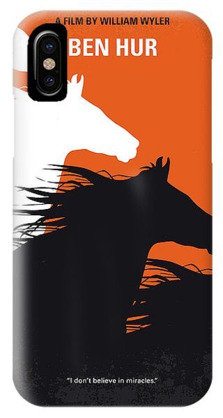 Ben iPhone Case - No989 My Ben Hur Minimal Movie Poster by Chungkong Art