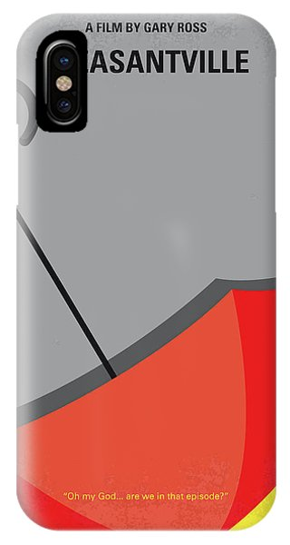 1950s iPhone Case - No990 My Pleasantville Minimal Movie Poster by Chungkong Art