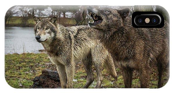 Noisy Wolf IPhone Case
