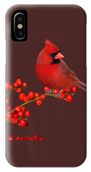 iPhone Case - Northern Cardinal  by Cynthia Leaphart