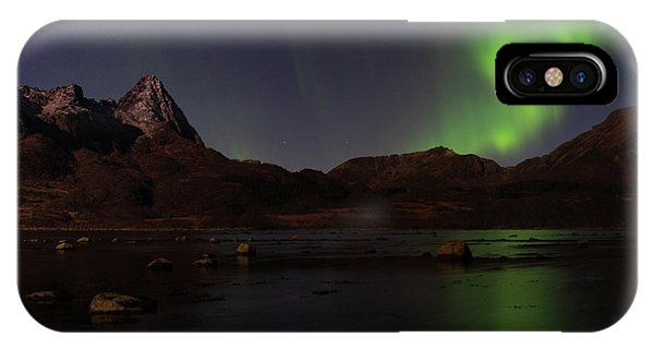 Northern Lights Aurora Borealis In Norway IPhone Case