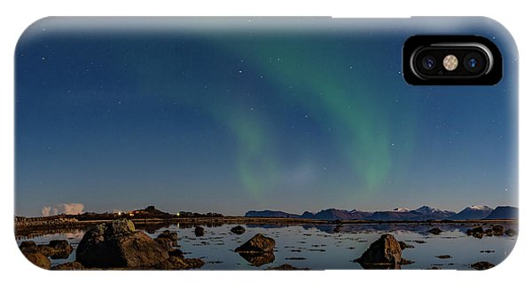 Northern Lights Over A Swamp  IPhone Case
