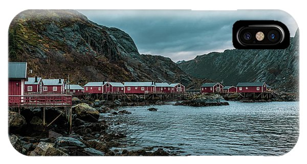 Norway Panoramic View Of Lofoten Islands In Norway With Sunset Scenic IPhone Case