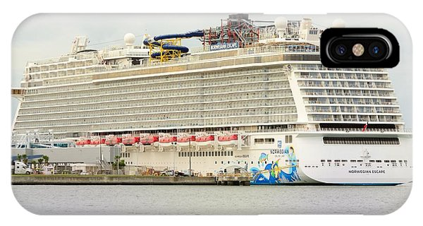 IPhone Case featuring the photograph Norwegian Escape In Port by Bradford Martin