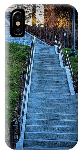 Norwich University Centennial Stairs With Dates IPhone Case
