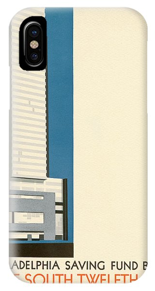 Nothing More Modern The Philadelphia Savings Fund Society Building, 1932 IPhone Case