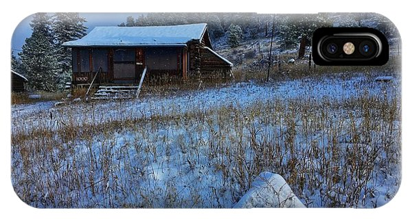 IPhone Case featuring the photograph November Cabin by Dan Miller