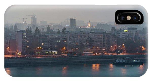Novi Sad Night Cityscape IPhone Case