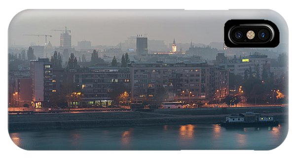 Novi Sad Night Cityscape IPhone Case