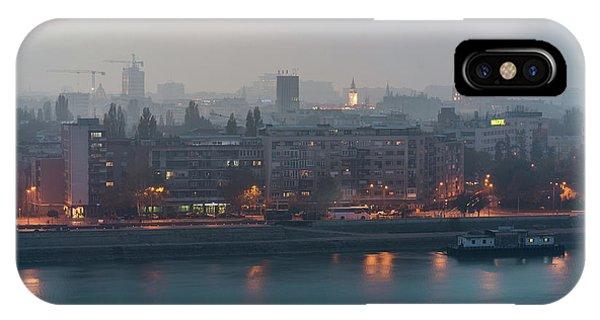 IPhone Case featuring the photograph Novi Sad Night Cityscape by Milan Ljubisavljevic