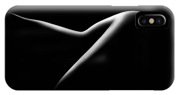 Outline iPhone Case - Nude Woman Bodyscape 15 by Johan Swanepoel