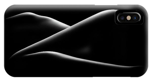 Abstract Figurative iPhone Case - Nude Woman Bodyscape 17 by Johan Swanepoel