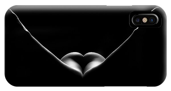 Abstract Figurative iPhone Case - Nude Woman Bodyscape 27 by Johan Swanepoel