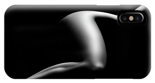Abstract Figurative iPhone Case - Nude Woman Bodyscape 9 by Johan Swanepoel
