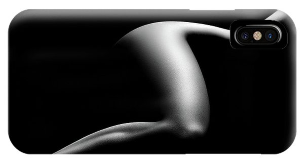 Pose iPhone Case - Nude Woman Bodyscape 9 by Johan Swanepoel