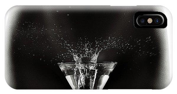 Martini iPhone Case - Nude Woman With Martini Splash by Johan Swanepoel