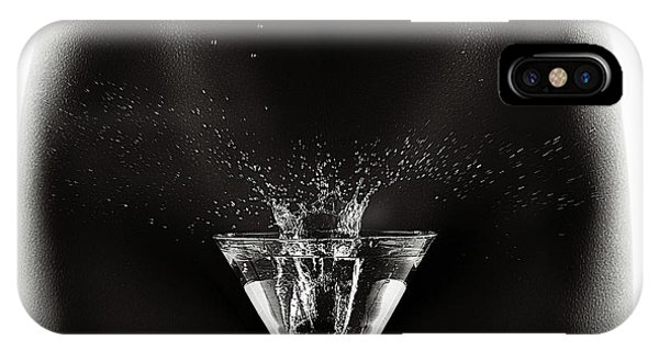 Martini iPhone Case - Nude Woman With Martini Splash by Johan Swanepoel