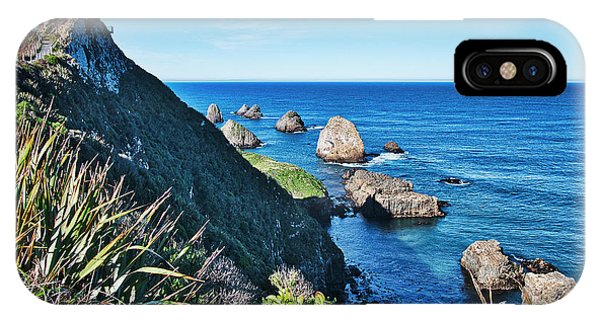 IPhone Case featuring the photograph Nugget Point Lighthouse 2 - Catlins - New Zealand by Steven Ralser
