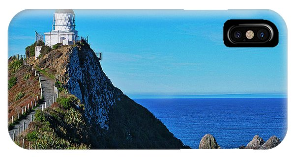 IPhone Case featuring the photograph Nugget Point Lighthouse 4 - Catlins - New Zealand by Steven Ralser