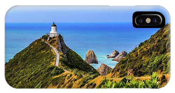 Nugget Point Lighthouse, New Zealand IPhone Case