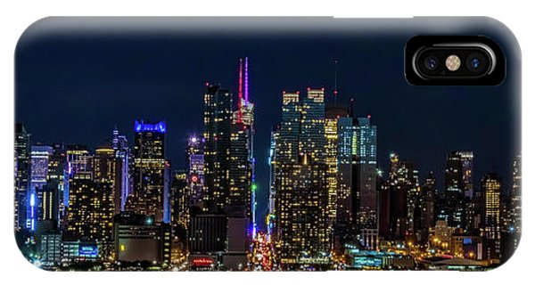 IPhone Case featuring the photograph Nyc At Night by Francisco Gomez