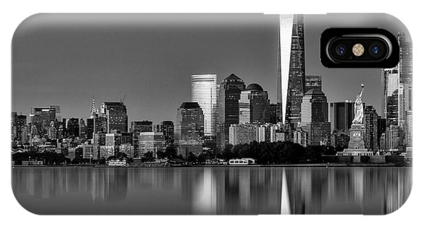 iPhone Case - Nyc Icons And  Landmarks Bw by Susan Candelario