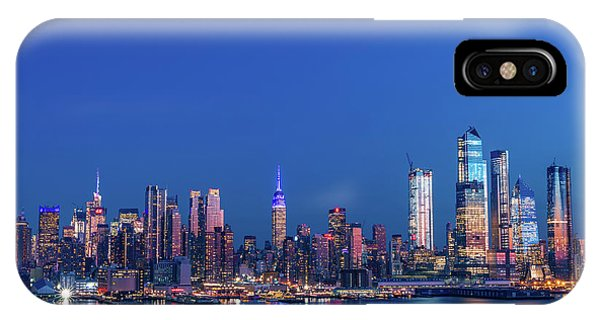 IPhone Case featuring the photograph Nyc The Blue Hour by Francisco Gomez