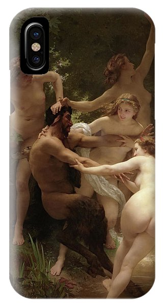 Lgbt iPhone Case - Nymphs And Satyr, 1873 by William-Adolphe Bouguereau