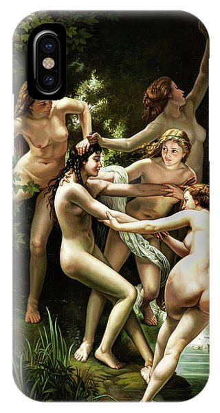 Lgbt iPhone Case - Nymphs by Unknown 19th century
