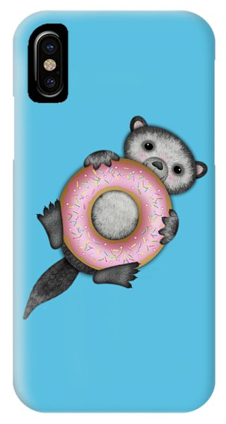 O Is For Otter With An O So Delicious Doughnut IPhone Case