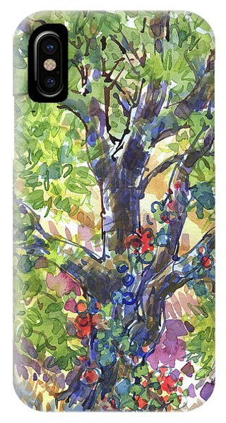IPhone Case featuring the painting Oak And Poison Ivy by Judith Kunzle