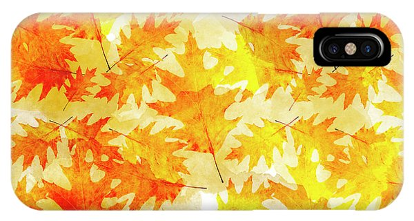Fall iPhone Case - Oak Leaf Pattern by Christina Rollo