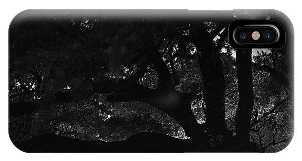 Oak Tree At Night Phone Case by Edward Swearingen